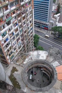 Rascacielos convertido en Favela
