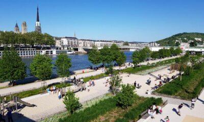 El muelle de Rouen sobre el Sena
